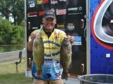 Mark Modrak two big Lake St Clair smallmouth bass June 2012 BFL