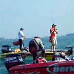 Mark Modrak fishes Lake St. Clair FLW Chevy Open 2008